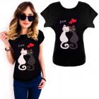 K550 Cotton T-Shirt , Top, Cats Love, Black