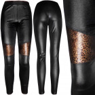 4464 Women Latex Leggins, Panther Pattern