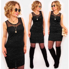 A1020 Litle Black Dress, Silver Gloss