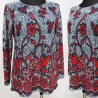 K2772 Warme Bluse, Größe L-4 XL, Muster