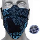 Protective mask, coton blue print, rubbers, D5812