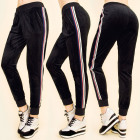 C17344 Comfortable Pants, Velor, Colorful Stripes
