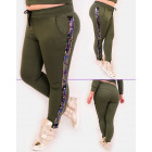 EM81 Slimming Pants, High Waist, Stripe