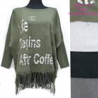 Women Tunic Oversize, Tassels and Print UNI, 5259