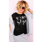 4568 Loose Women's Shirt, Silver Pink Slip