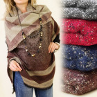 FL270 warming shawl, cape, PLAID, COLORS