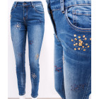 B16764 Shiny Women Jeans, Colorful Sequins