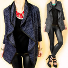 4393 Loose Women Jacket, Cardigan, Wavy Collar
