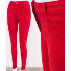 B16776 Jeans classique pour femmes, maigre, rouge