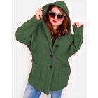 EM26 Women Plus Size Jacket, Kimono, Boucle ZIELO