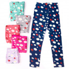 4458 Leggins for Girl 104-152, ladybugs pattern