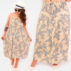 C17691 Summer Long Skirt, 2 in1 Dress, Flowers