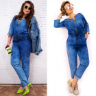 BI667 Unique Spring Women Overall, Jeans, cotton