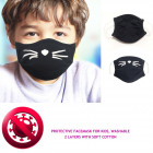 Kids Protective Mask 4-8, 2 layers, kitten