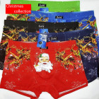 4828 Cotton Boxer Briefs for Men, L-3XL, Christmas