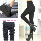 Women Fleece Leggings, 1800 Den, L-6XL, 5728