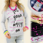 K192 SWEATSHIRT, coTton, GET YOUR HAPPY ON MIX