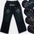 A19202 Pantaloni jeans per ragazze, 1-5 anni