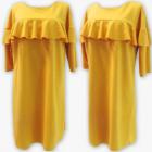 D4074 Dress, Made In Poland, 48-54, Mustard