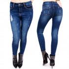 B16617 Jeans Femme, Ligne Skinny, Trous