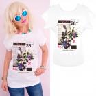 K581 T-Shirt Baumwolle, Top, Hi! Neues Weiß