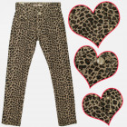 A19152 Girls Pants, cotton , Brown Leopard Pattern