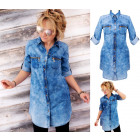 BI662 Long Jeans Shirt, Impressive Tunic