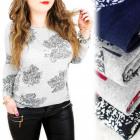 C11462 Indrukwekkende blouse, grote maten, esdoorn