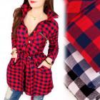 BI649 Long Shirt, Dress, Texan Lattice