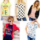 K599 T-shirts, hauts, divers modèles en coton