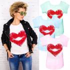 N065 Cotton Blouse, Light Top, Beautiful Lips