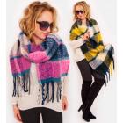 A1254 Big scarf - blancket , fluffy XXL Plaid, tas