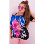 4525 Elegant Plus Size Blouse, jets and lily