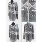 K67 Original Cardigan, Long Sweater, Aztec pattern