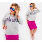 A829 Casual Ladies Sweatshirt, Paris Roses print