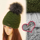 C17440 Anti Frost Winter Hat, Cap, Furry Pompon