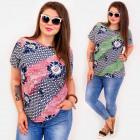 C11536 Plus Size Women Blouse, Diagonal Strips