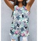 Women Blouse, Summer Top, Flowers L-4XL, 6619