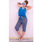 4276 Loose Pants, 3/4 Length, Bamboo, Plus Size