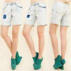 B16506 WOMEN JEANS SHORTS, PATCHES