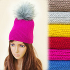 FL641 Beautiful Winter Cap, Pompon, Juicy Colors