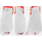 C24234 Sweatshirt, Long Maxi Skirt, Melange