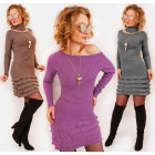 D1480 Cashmere Dress + Warm Scarf, Winter Set