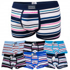 D2682 Cotton Mens Boxer Shorts, L - 3XL, Striped