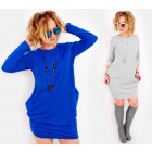 C24227 Sweatshirt Dress, Loose Style, Colors