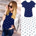 4637 Cotton Shirt, Top, Blouse, Charming Flowers