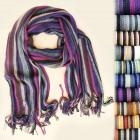 B10A12 Eleganter Schal, Unisex, Fransen und Gürtel