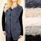 C17245 Fashionable Soft, Furry Waistcoat, Jacket