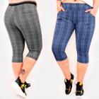 C17611 Pantalons pour femmes, grande taille, longu