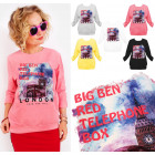 A868 Women Sweatshirt, Printed: Red Telephone Box